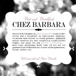 Welcome @ Chez Barbara